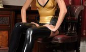 Latex Heaven Lorena Gold Black