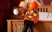 Latex Heaven Leanne Orange Dress