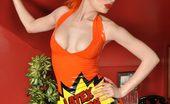 Latex Heaven Ulorin Vex Orange Dress