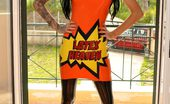 Latex Heaven Stacey Lacey Orange Lh Dress