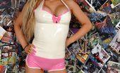 Latex Heaven Robyn White Pink Socks