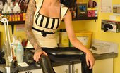Latex Heaven Stacey Lacey Mags White Capri