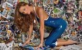 Latex Heaven Emma Kate Dawson Trans Blue Catsuit