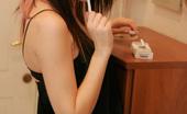 Kaira 18 Smoking 18yo Emo Teen Shows Sexy Smoking Action Up Close