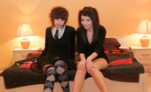 Kaira 18 Kaira Kate Two Sweet EMO Teens Kissing And Undressing Each Other!