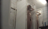 Voyeur Bank Shaggy Freshie With Bushy Pink In Spycammed Shower