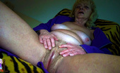 Old Nanny Blonde Old Woman Fingering Her Hot Pussy