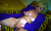 Old Nanny Blonde Grandma Playing With Her Hairy Pussy