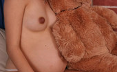 Pregnant Wishes Romantic Preggo Naked With Her Teddy Bear Cute Pregnant Girl Getting Naked, Posing In Bed With Her Big Soft Teddy Bear And Touching Herself