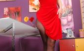 Pantyhose Angel Angel Shows Her Sexy Legs In Sheer Black Pantyhose