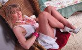 Pantyhose Angel Shiny Legs In Peavey Hosiery Pantyhose