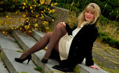 Pantyhose Angel Outdoor In My Opaque Pantyhose