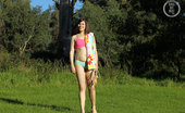 Girls Out West Saffron Fitness 303973 Saffron'S Looking Pretty In Her Fitness Outfit. In The Park The Sun Is Shining And Saffron'S Feeling Frisky As She Wiggles Out Of Her Exercise Wear, And Gets Into The Full Monty For A Stretch, A Labia Pull, And A Skip With The Skipping Rope.