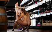 Girls Out West Adel & Miley Wine Shop Wearing Pretty Little Dresses, Miley Seduces The Very Innocent Young Adel. She Shows Her All The Pleasures Of ANAL SEX!