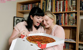 Girls Out West Leah And Kristin Pizza 304091 At This Pizza Party, Pizza Is Just An Entree - Rare, Juicy, Hairy Muff Steak Is The Main Course. Before Even Finishing One Slice, Tongues Are Down Throats, Hands Up Skirts And Breasts Grabbed.