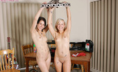 Girls Out West Madeline And Cera The Car Parts Soon Become Less Interesting As Their Tits Start To Pop Out Of Their Skimpy Cut-Off Tops. They Remove Their Singlets And Share Their First Ever Girl/Girl Kiss Naked And With Tongues, Horizontal, Amongst The Car Parts On The Table.