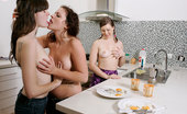 Girls Out West Anais Bonny And Courtney C Courtney C Is Making A Hot Breakfast For The Girls. The Fried Eggs Don'T Taste As Good As Fresh Pussy Or An Open Mouthed Kiss. Anais And Bonny Rip Into It First, Licking, Fingering And Fucking On The Bench.