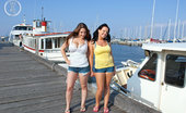 Girls Out West Angie And Blaire 304122 Angie & Blaire Are Loitering At The Pier, Waiting For A Ship Full Of Sailors To Arrive. No-One Show. But They Have Each Other, And A Bossom Full Of Girlie Goodness To Share. Blaire Succumbs And Cums In Angie'S Mouth.