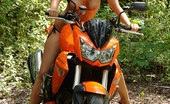Eve Angel Sexy Brunette Babe Eve Angel Naked On Motorbike Outdoors