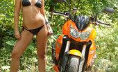 Eve Angel Eve Angel Gets Naked & Masturbates On A Motorbike Outdoors