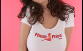 Pinup Files Jana Defi 305047 Jana Defi Vol. 1 Set 2 This Week We Feature The Lovely And Amazing <B>32G Jana Defi</B>, Back Once Again In Her Tight-Hugging PinupFiles T-Shirt. A Gorgeous Woman In A Tight And Shot-Cut Tee And Jana Fills It Out And Fits The Bill Just Beautifully.