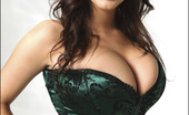 Pinup Files Desiree Elyda Villalobos Vol01 Set01 Hot Busty Desiree Poses And Teases In Green Corset