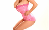 Pinup Files Denise Milani Vol07 Set01 Classy Vintage Babe Denise Teasing In Pink Corset