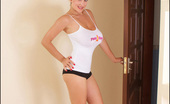 Pinup Files Valory Fleur Vol01 Set01 Busty Leanne Crow In A Pink Sweater