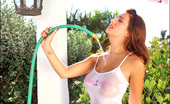 Pinup Files Holly Holly Vol. 1 Set 1 Busty PinupGirl Debut! Watching Holly Get Her T-Shirt All Wet With This Hose Is Enough To Definitely Heat You Up Even More Than The Weather And She Will Be Having You Wishing You Could Cool Off In No Time At All. Please Join Us In Welco