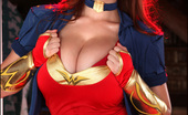 Pinup Files Tessa Fowler Tessa Fowler Vol03 Set01 Busty Tessa Gets Into Costume As Wonder Woman For Halloween
