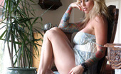 Vivid Beautiful Janine Stripping Lovely Janine Stripping And Showing Off Her Delicious Assets