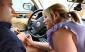 Fatty Game Fatty Sucking Cock In A Car The Fat Chick Gets Into His Car And Blows Him Before They Go To Her Apartment For Sex She Loves