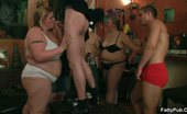 Fatty Pub Incredible Sucking In A BBW Orgy The Fatties Are Half-Naked In The Bar And Sucking Cock To Show Their Men How BBWs Like To Play