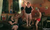 Fatty Pub Naked Plumpers Sucking In Orgy The Horny Bar Babes Get Naked And We See Them Sucking Dick In A World Class Group Scene