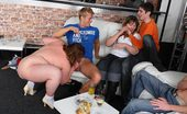 Fatty Pub Party BBWs Are Eager To Get It On Come To The BBW Party At The Bar And See The Sluts Naked On The Couches Getting Slammed Hard