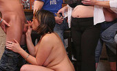 Fatty Pub Frisky Fat Party Girls At Play See The Drunk BBWs Take Off Their Clothes And Play Naughty With The Muscular Guys