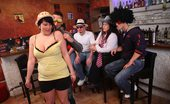 Fatty Pub Thin Men And Fat Sluts At Play The Party Features Three Fatties And Three Guys And They All Play To Get Off Together