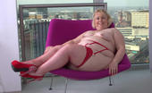 TAC Amateurs Lexie On The Purple Chair Hi Guys, I Was Staying At A Friends Apartment In Birmingham, It Was On The 17th Floor And Look Out Over The City.With Th