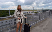 TAC Amateurs Nude To The Airport I Started My Summer-Holidays For This Year Last Week. My Suitcase Was Very Small This Time. For A Nudist-Holiday I Need