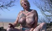 TAC Amateurs On The Beach I Show My Big Tits And Pussy And I Pee On Car Park