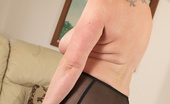 TAC Amateurs On The Couch Do You Think I Look Sweet In My Black Party Dress Or Are You Just Waiting For Me To Tease You By Stripping Off To See W