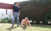 TAC Amateurs Bdsm Session In The Garden My Master Punished Me In The Garden, Whip Of My Buttocks, Stretching Of My Pussy Lips And My Nipples, Pissing, Ball Gag
