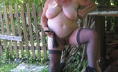 TAC Amateurs The Great Outdoors Loving The Great Outdoors, Wearing A HOT Leopard Print Outfit. Stockings, And Check Out Those HOT Come Fuck Me Hi Heels
