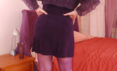 TAC Amateurs All In Purple 314784 These Purple Lacy Panties Look So Pretty With These Purple Stockings. Makes Me In The Mood To Wear All Purple Today... I