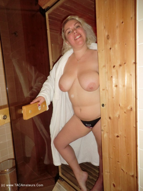 The sauna gets hotter than expected with some steamy sex amp blowjob 4