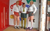 TAC Amateurs Three Naughty Skool Girls Hi Guys, I Was Bunking Off Double Maths With Mazza Brit, And We Just Couldnt Help Ourselves And Were Soon Stripping Eac