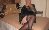 TAC Amateurs Smoking Hot Smoking Hot Girdlegoddess Spread Out On The Bed, Wearing My Leopard Print Kimono, Black Stockings And Sexy Hi Heels.