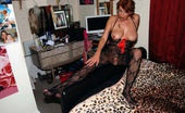 TAC Amateurs Me & My Crotchless Body Stocking Dimonty Is Wearing Her Crotchless Body Stocking While Lying On Her Bed Before Long She Feels Horny And Starts To Masturb