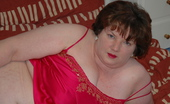 TAC Amateurs Pink Cammi See Me Wearing My New Pink Silk Camisole For You In These New Photos. Good Views Of My BBW Fat White Belly And Great Big