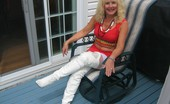 TAC Amateurs Sexy, Slutty, Shiny Sexxy, Slutty And Shiny, Thigh High White Boots Don'T You Just Love Them If You Do Then Write Me Ruthtachotmail.Com